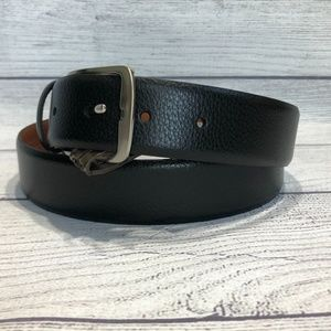 Boconi Men's Black Leather Belt